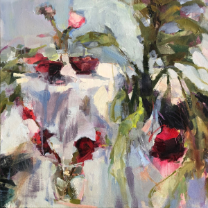 Georganna Lenssen |  A Touch of Pink, 2020 |  Oil on canvas |  24 x 24 |  $2,800.