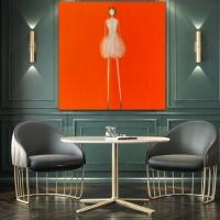 Rene' Romero Schuler    Bridget    Oil on canvas    60 x 60    $17,000.