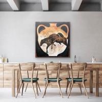 Carl White    Vessel    Oil, conte on canvas    50 x 48  