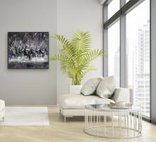 Gregory Prestegord     In Unison     Oil on canvas     48 x 48     $11,000.