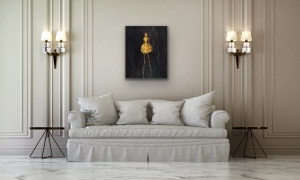 Rene' Romero Schuler    Nola, 2020     Oil on Canvas     29.75 x 23.75     $4,000.