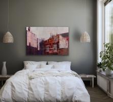 Michael Bartmann    Bardo Room III, 2018     Oil on board    40 x 40    $4,800.