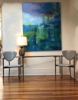 Sheila O'Keefe Braun    Trout     Acrylic, fingerwork, knives    60 x 48    $4800.