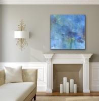Sheila O'Keefe Braun     Abundance     Acrylic on canvas     36 x 36    $3,200.