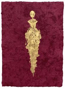 René  Romero Schuler |  Maida, 2019 |  24k gold leaf on handmade Mayan Huun paper |  23x16  unframed |  $1,300.